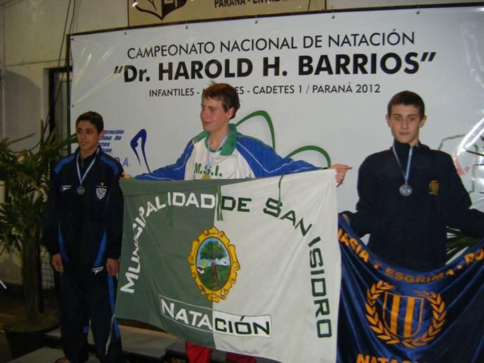 Nicolás Deferrari, al término de la competencia.