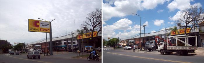 Retiran marquesinas y columnas de publicidad en San Isidro