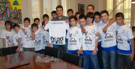 Massa les deseó suerte a los chicos de Niños sin red