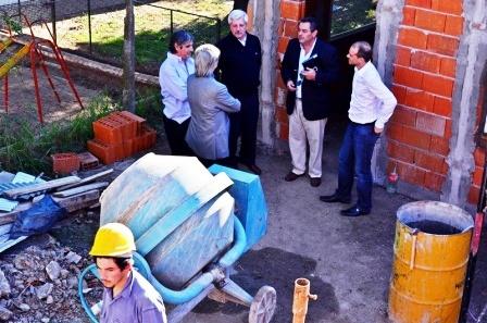 Andreotti recorrió las obras de ampliación y acondicionamiento del Centro de Salud Crisol