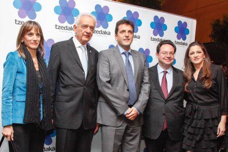 Massa estuvo presente en la cena anual de la Fundación Tzedaká