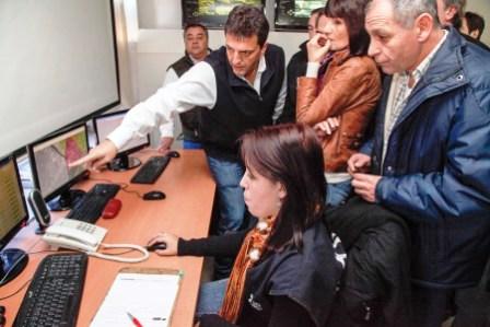 Concejales de la Plata visitaron el centro de operaciones Tigre.