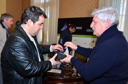 Luis Andreotti recibió al empresario Marcelo Rodríguez de JR Muebles