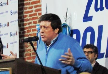 Gabriel Mariotto en un acto realizado en la ciudad de Vicente López