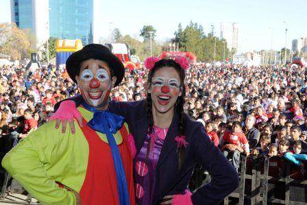 Multitudinario festejo del día del niño en Tigre