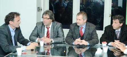 Katopodis participó de un convenio contra la violencia entre Chacarita, Atlanta y el INADI