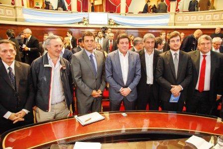 Sergio Massa junto a otros intendentes impulsan la policía municipal