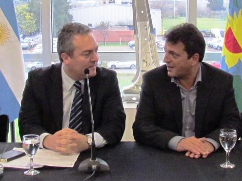 Sergio Masa y Cristian Breitenstein, Ministro de Producción provincial
