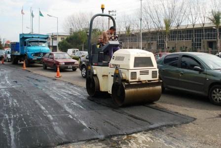 Trabajos de bacheo en todo Tigre
