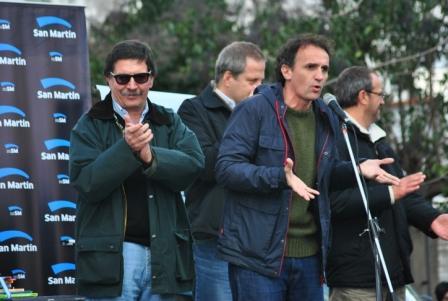 El Intendente de San Martín, Gabriel Katopodis, y el ministro de Educación de la Nación, Alberto Sileoni
