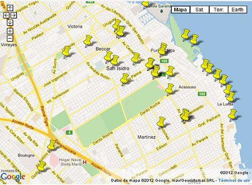 Nuevo mapa digital para ubicar los contendores en San Isidro
