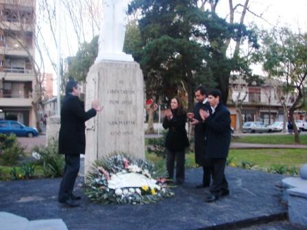 Dirigentes el PJ  FPV recordaron  200 años de la visita del General San Martín a San Fernando