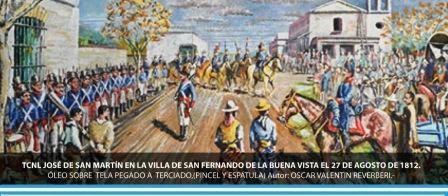 Gran desfile cívico militar en la plaza Mitre para recordar los 200 años de la visita de San Martín a San Fernando
