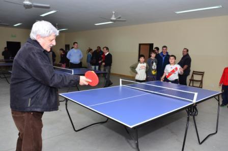 Andreotti inauguró la nueva Escuela Municipal de Ping-Pong en San Fernando