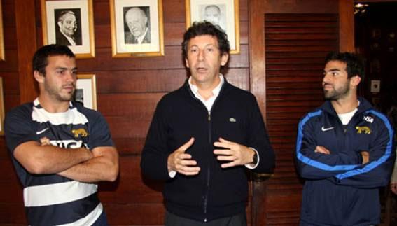 El jefe comunal junto a los sanisidrenses Landajo y Figuerola