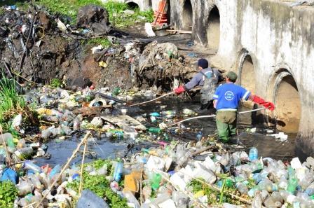 San Fernando realizó operativo de limpieza en el Zanjón Fate de Virreyes