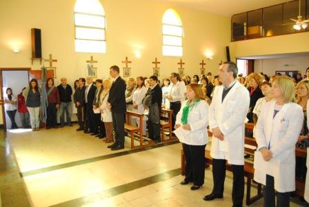 Con una misa en la Maternidad Santa Rosa se celebró el día de su Patrona