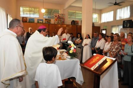 El Hogar Santa Rosa celebró una misa para recordar a su Patrona
