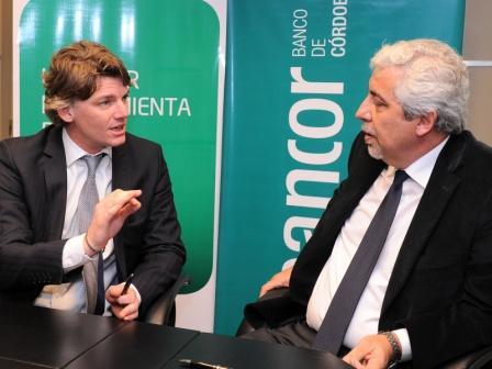 El vicepresidente ejecutivo del Grupo Banco Provincia, Nicolás Scioli, firmó hoy un convenio con el titular del Banco de Córdoba, Fabián Maidana