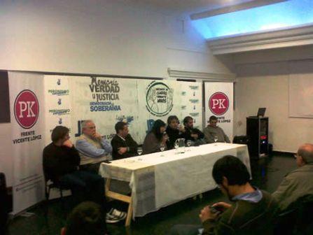Diana Conti explicó su proyecto junto a jóvenes Kirchneristas de Vicente López
