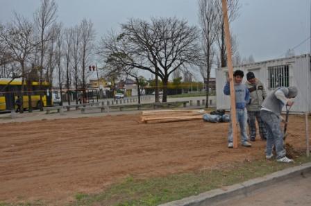 Comenzaron las obras en la Posta Policial de Arroyo Cordero y 202 en San Fernando