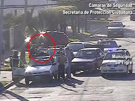 Cayó filmado en Tigre un delincuente que simulaba vender alfajores en la vía pública