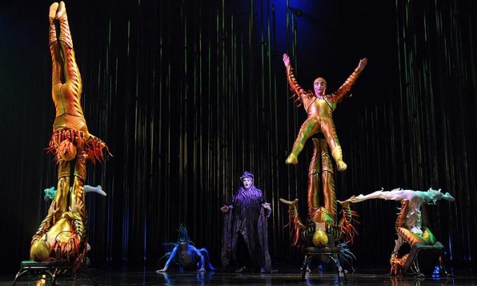 El Cirque Du Soleil comenzó con su serie de presentaciones en Vicente López