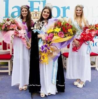 Yesica Larricart, oriunda de la localidad bonaerense de Escobar, fue elegida hoy Reina Nacional de la Flor
