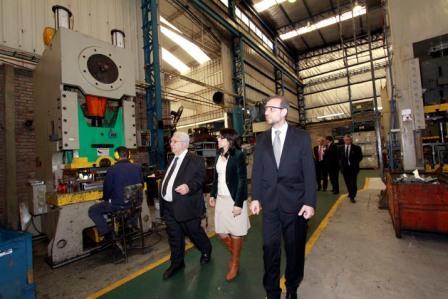 E l presidente del Banco Provincia, Gustavo Marangoni durante el recorrido de dos fábricas en el Partido de Tigre