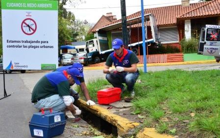 Empezaron los Controles de Plagas Urbanas en San Fernando