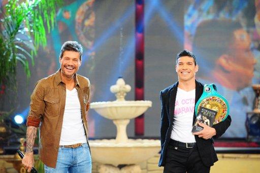 Sergio Maravilla Martínez volvió a ShowMatch con su cinturón de campeón del mundo
