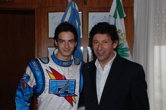 Gustavo Posse recibió a Jonathan Piniella, promesa del automovilismo