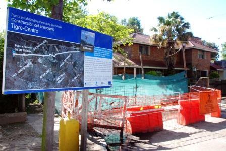 Avanzan los acueductos de la Planta Potabilizadora que se construye en Tigre