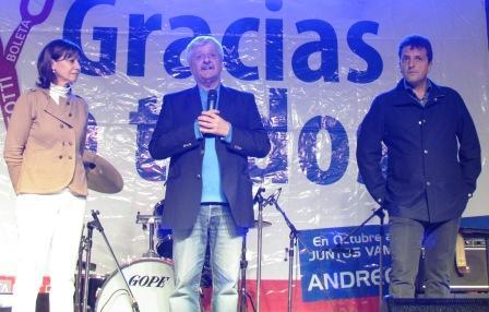 Andreotti festejó junto a Massa el primer aniversario de su victoria
