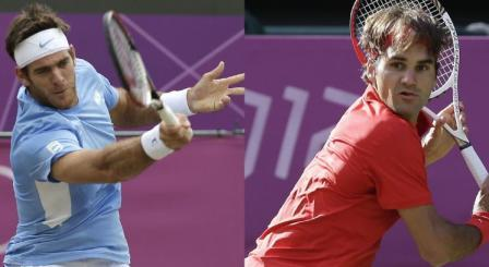 Del Potro y Federer