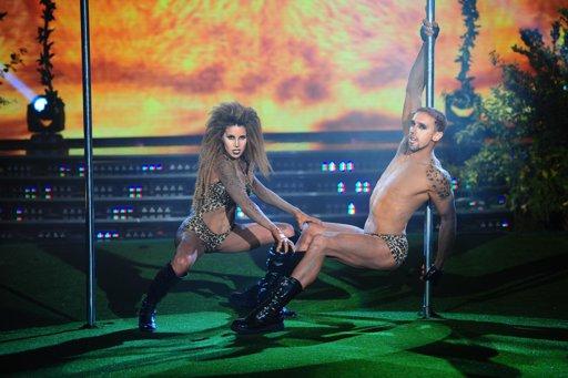 Florencia Peña y Nicolás Scillama, con un maquillaje especial que hacía que parecieran dos tigres