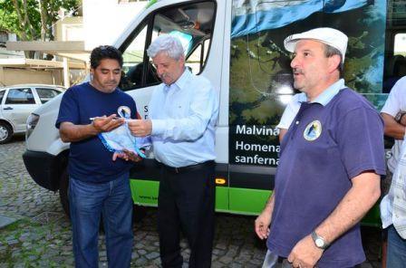 Nueva camioneta municipal que homenajéa a los excombatientes de Malvinas de San Fernando