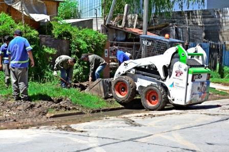 El Municipio de San Fernando asistió a los barrios más afectados por la tormenta
