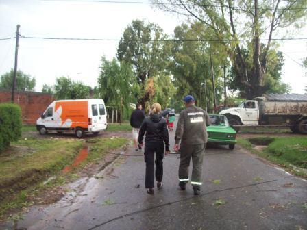 Fuertes tormentas y ráfagas de viento afectaron al distrito de Escobar