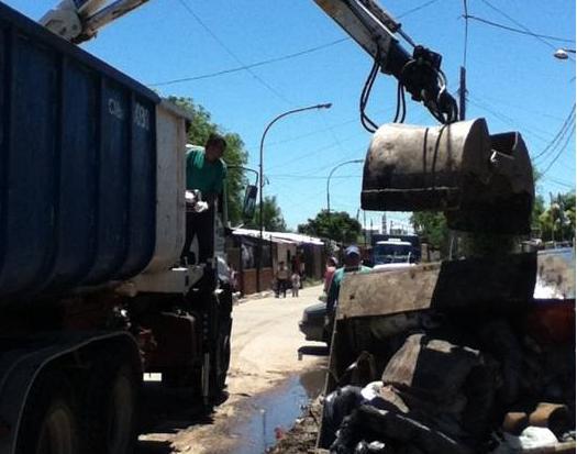 El Municipio de San Isidro trabajó en La Cava, tras la tormenta del jueves