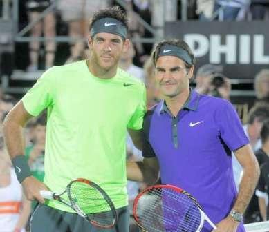 Federer brilló en Tigre, aunque el primer partido quedo en manos de Del Potro