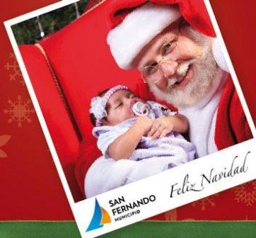 Los chicos podrán sacarse su foto con Papá Noel en las distintas Plazas de San Fernando