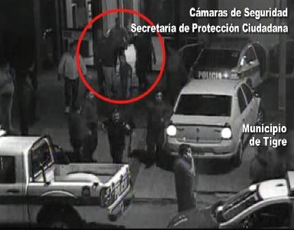 Cuatro delincuentes caen filmados en Tigre intentando robar un banco
