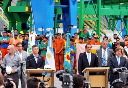 Scioli y Macri inauguraron una planta para tratar residuos en San Martín