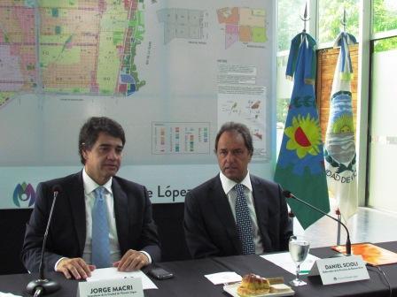 El gobernador Scioli y Jorge Macri se reunieron  de Vicente López  por seguridad, salud y cultura