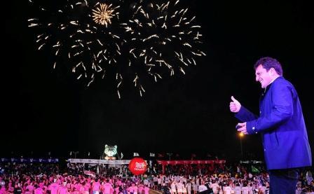 Massa celebró el cierre de Colonias de Tigre junto a más de 35.000 chicos