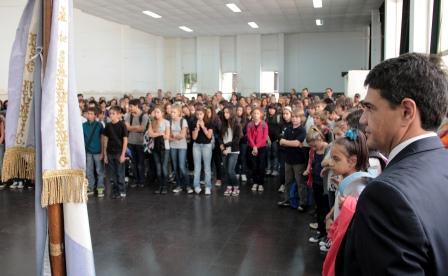 Jorge Macri inauguró el ciclo lectivo en el Paula Albarracín