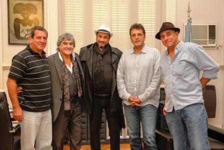 El Intendente de Tigre, Sergio Massa, recibió al prestigioso director cordobés y al destacado actor, Lito