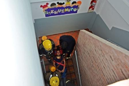 Se realizó un simulacro de evacuación de incendio en la UDI de Santa Catalina de San Fernando