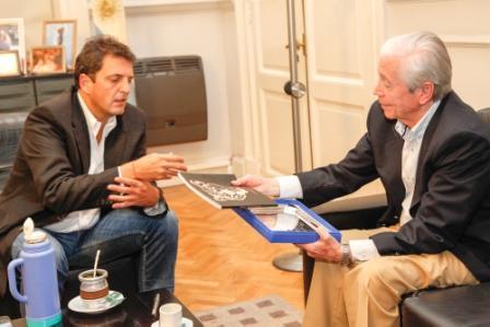 Massa recibió a Héctor Cámpora hijo a 40 años del histórico triunfo peronista